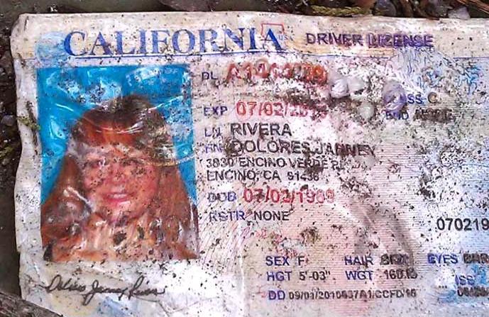 Licencia de conducir de Jenni Rivera