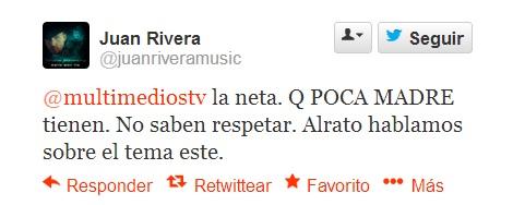 Juan Rivera responde a Multimedios