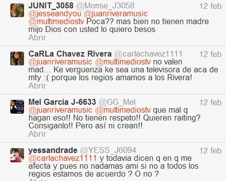comentarios a Juan Rivera