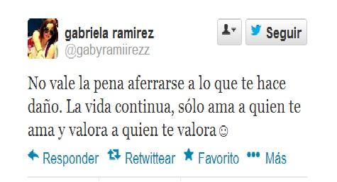 Gaby ramirez tuit