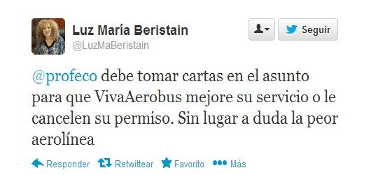 Luz María Beristain Twitter
