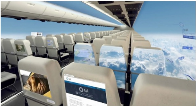 avion sin ventanas