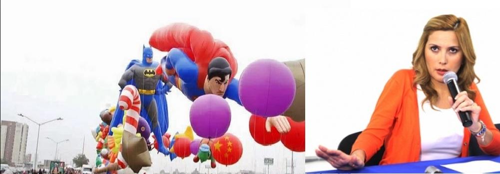 desfile de globos margarita arellanes