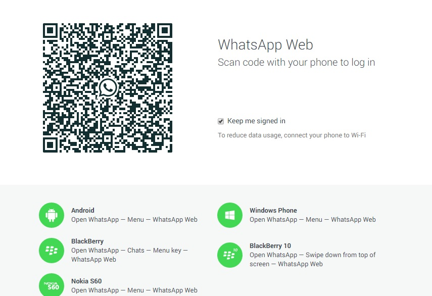 whatsapp web página