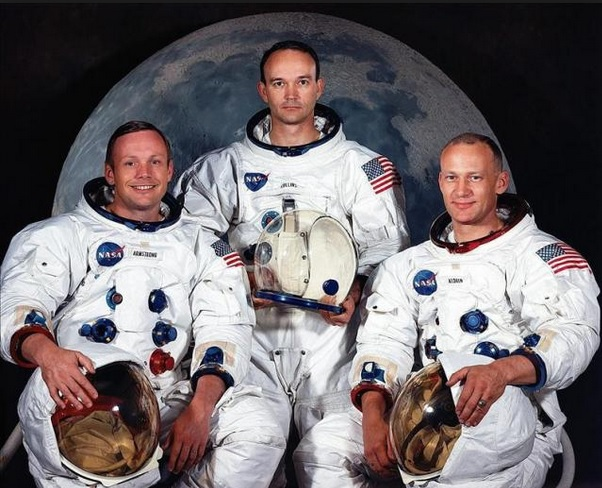 primeros astronautas luna